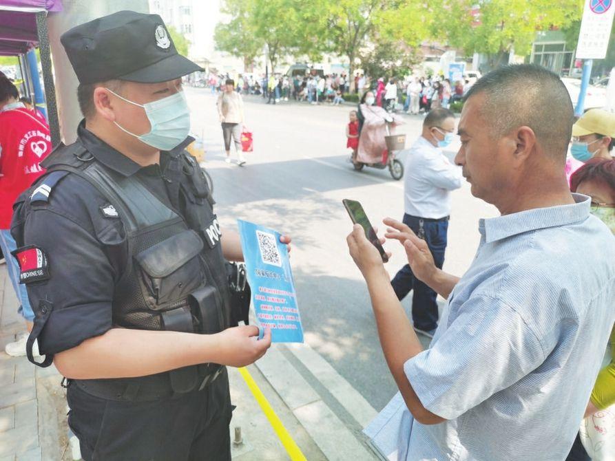 市公安局德城分局发动全体民辅警宣传防范电信诈骗