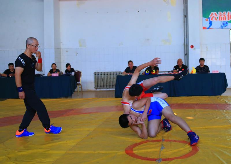 德城代表队全市六运会上斩获摔跤比赛11块金牌