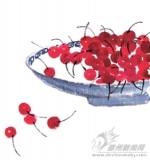 一树樱桃带雨红