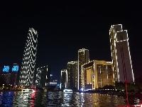 全国党报网站总编辑看天津:海河夜色