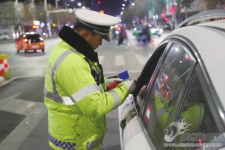 德州市公安局交警支队开展交通违法行为整治行动