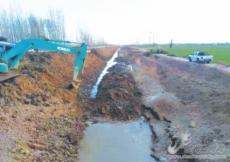 兴隆镇清淤河道保障春灌用水