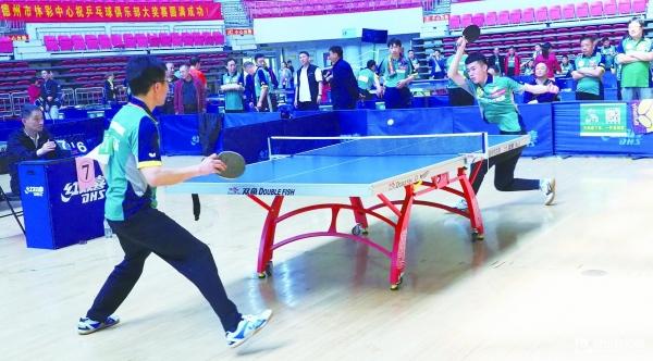 德州市200名活动员参加乒乓球俱乐部大年夜奖赛