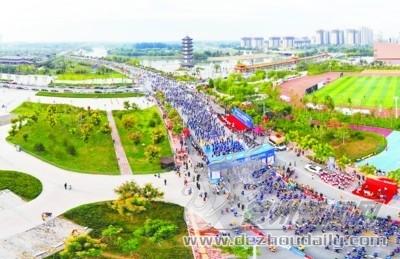 黄河湿地马拉松赛在齐河举行4000余国内外选手参加