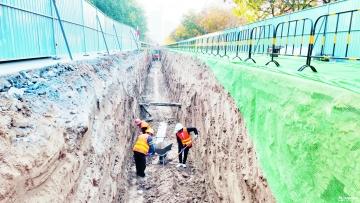 经开区3条道路雨污分流月底完工
