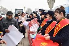 """庆云县公安局开展""""110宣传日""""宣传活动"""