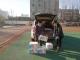 爱心家长为德城区新湖北路小学捐赠10箱84消毒液