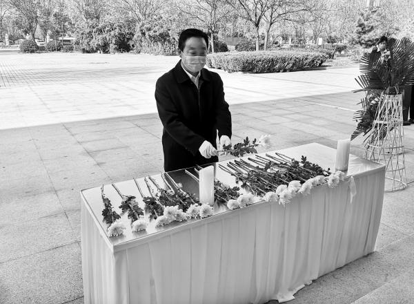 """市殯儀館舉行""""疫情無情 人間有愛""""公益性集體代祭掃儀式"""