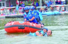 水上救援演练