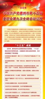 读图:中国共产党德州市第十五届委员会第九次全体会议公报