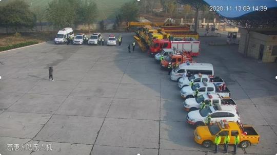 金魯班德商高速養護應急中心聯合多部門開展冬季高速公路應急救援演練活動