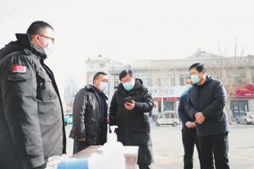 经开区社会事务服务中心党员干部下沉社区助防疫