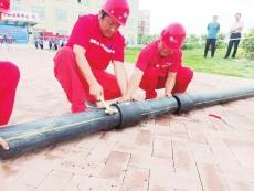 齐河县社区村庄举行燃气管网泄漏应急演练