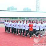 齐鲁中学举行开学典礼暨初一新生军训会操表演