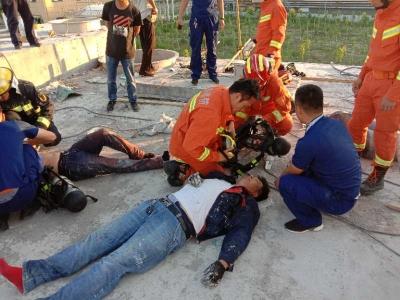 工人被困污水罐昏迷!德州消防员紧急出动救回两条命