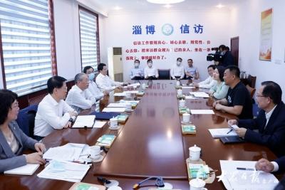 刘家义在淄博接待群众来访时强调 用心用情用力解决群众急难愁盼问题