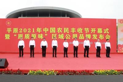 """平原县2021年中国农民丰收节暨""""原质原味""""区域公用品牌发布会开幕"""